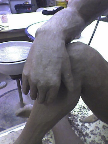Sculpted hands and feet