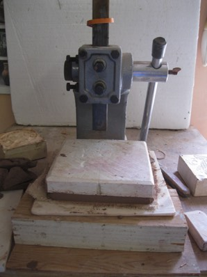 a larger tile is pressed